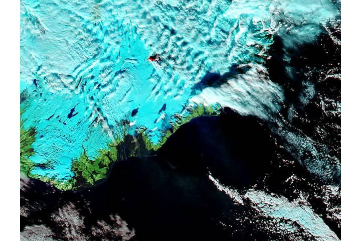 Eruption at Bardarbunga, Iceland (false color) - selected image