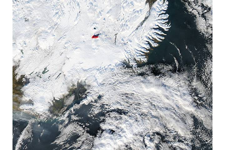 Eruption at Bardarbunga, Iceland (true color) - selected image