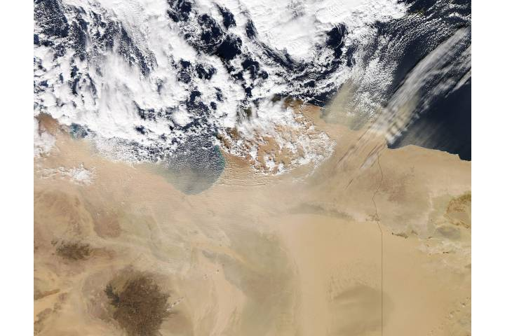 Dust storm over Libya - selected image