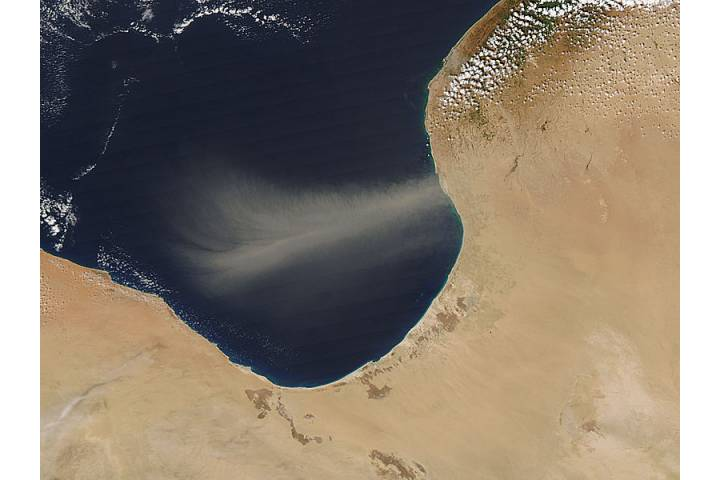 Dust storm off Libya - selected image