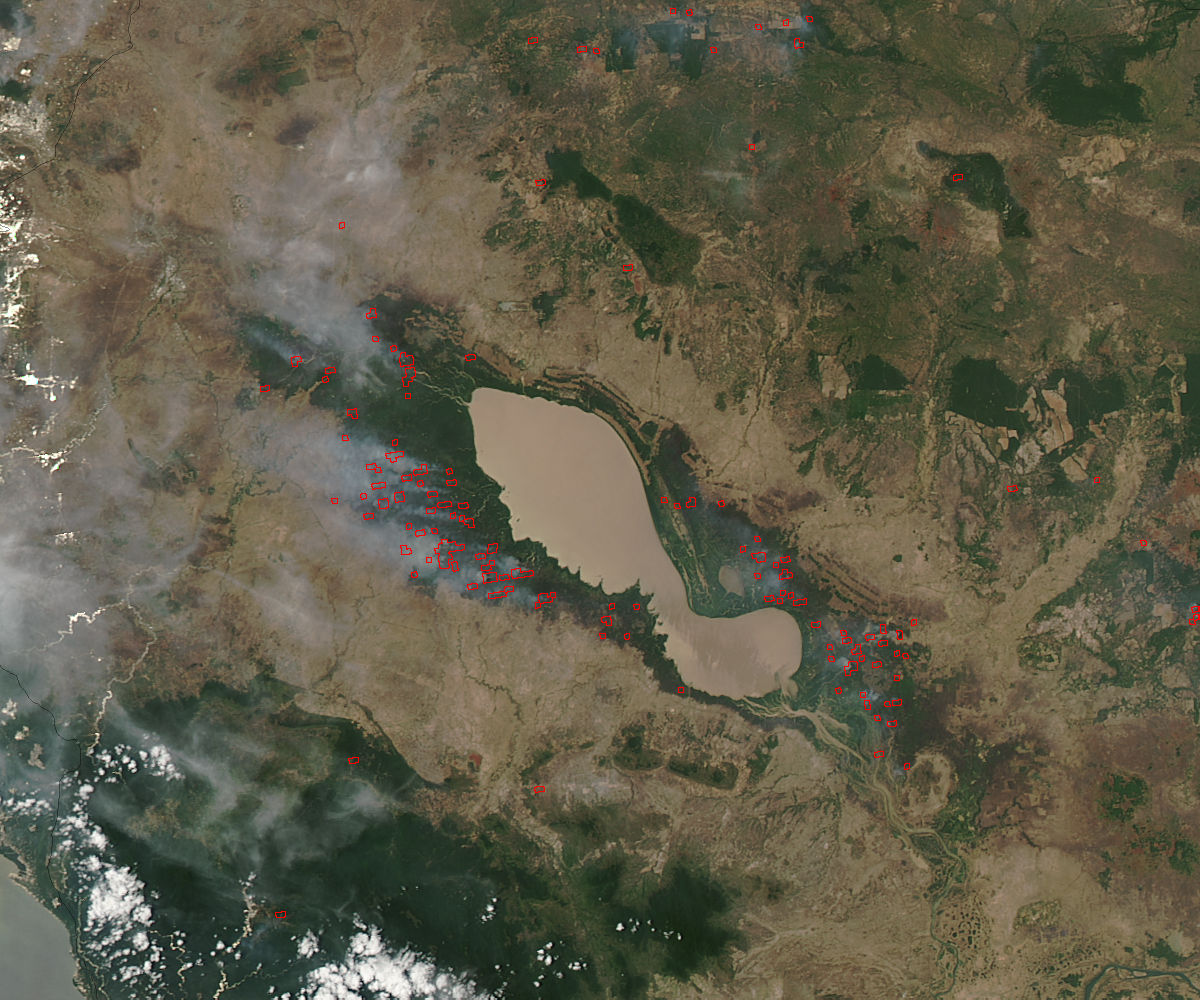 Fires around Tonle Sap, Cambodia - related image preview
