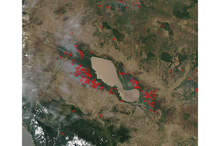 Fires around Tonle Sap, Cambodia - selected image