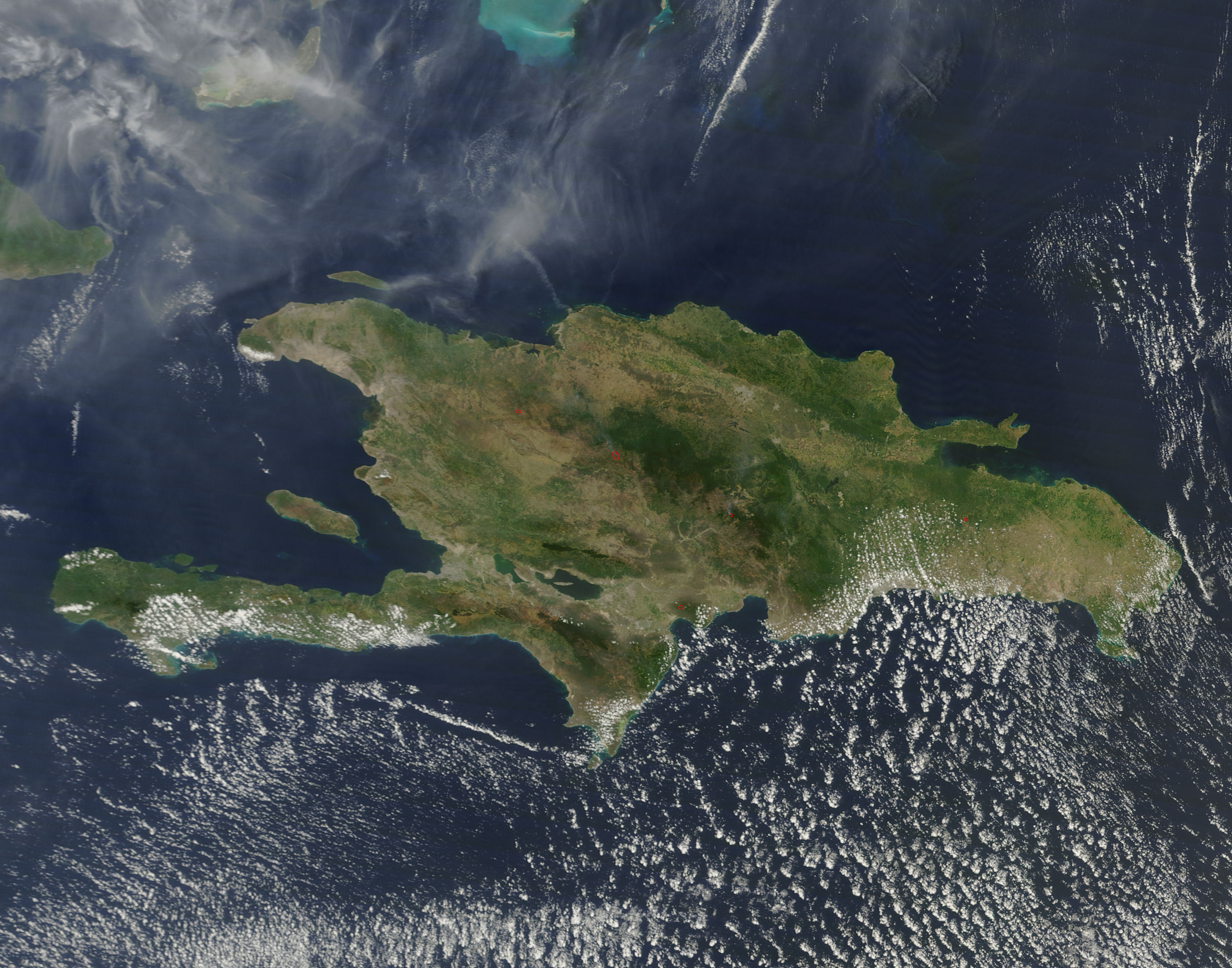 Fires in Hispaniola (morning overpass) - related image preview
