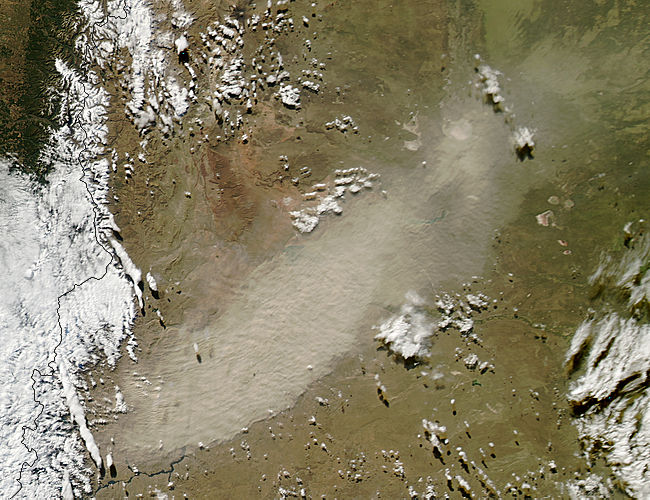 Resuspended ash from Calbuco volcano, Chile - related image preview