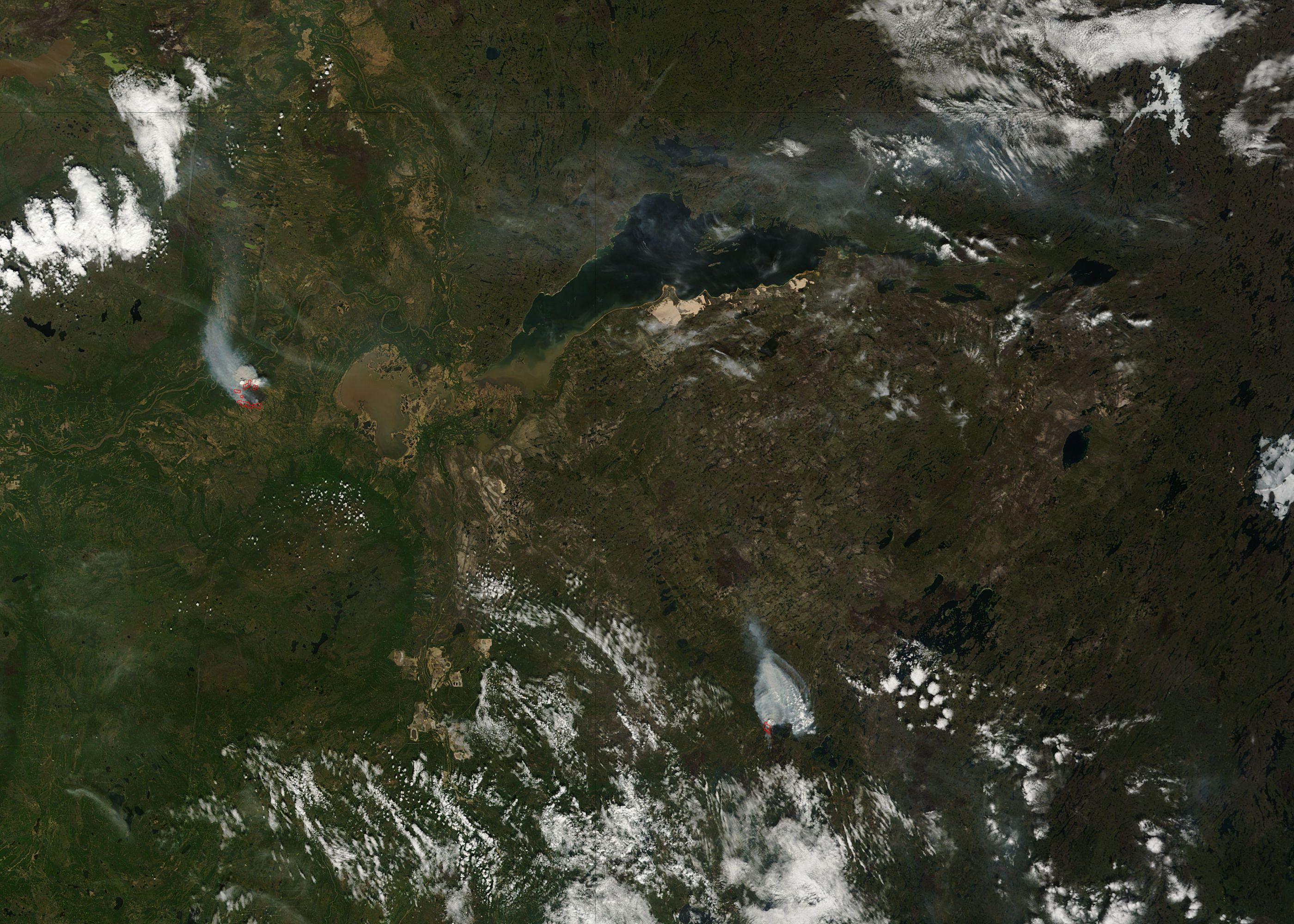 Fires in northern Canada (morning overpass) - related image preview