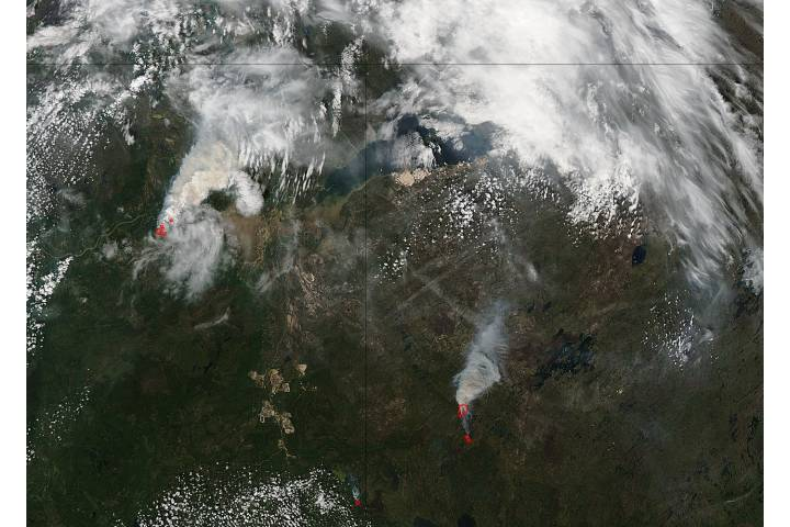 Fires in northern Canada (Aqua overpass) - selected image