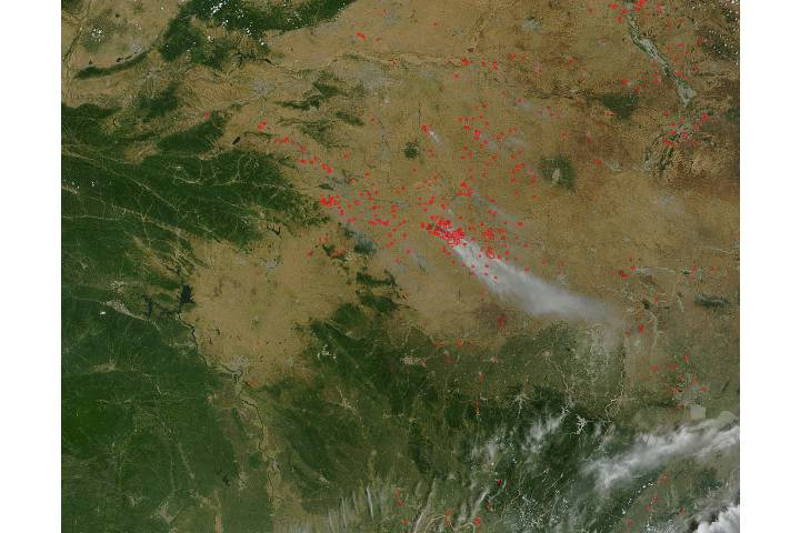 Fires in eastern China - selected image