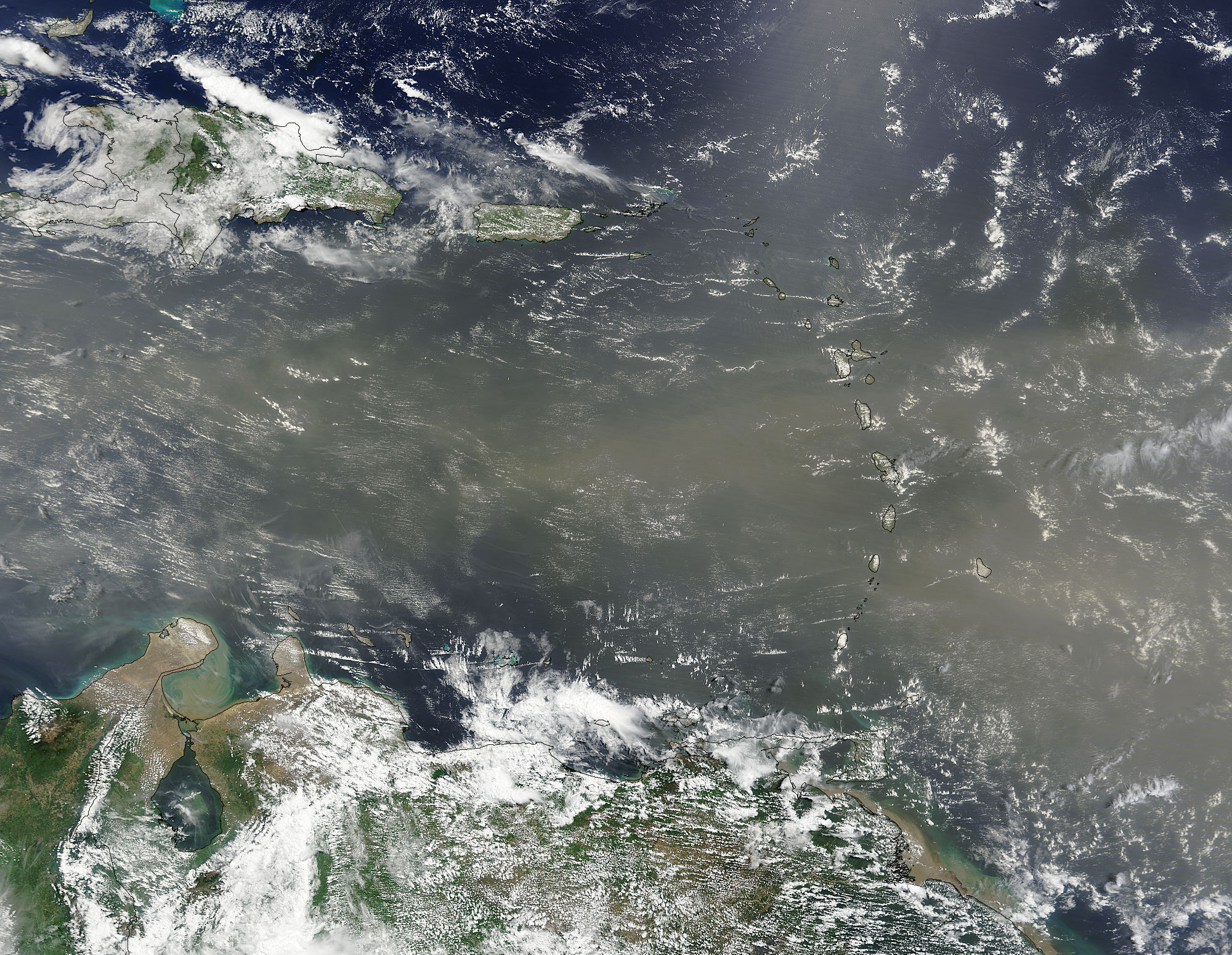 Saharan dust over the Caribbean Sea - related image preview