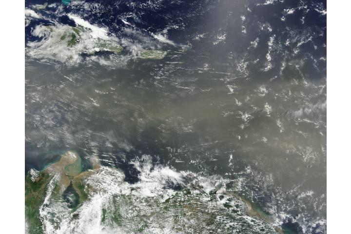 Saharan dust over the Caribbean Sea - selected image