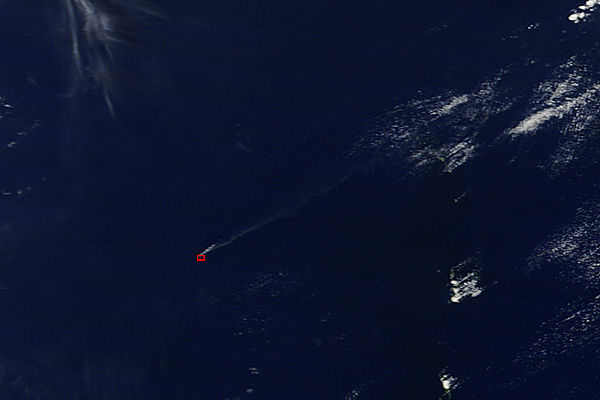 Plume from Nishinoshima, Volcano Islands (morning overpass) - related image preview