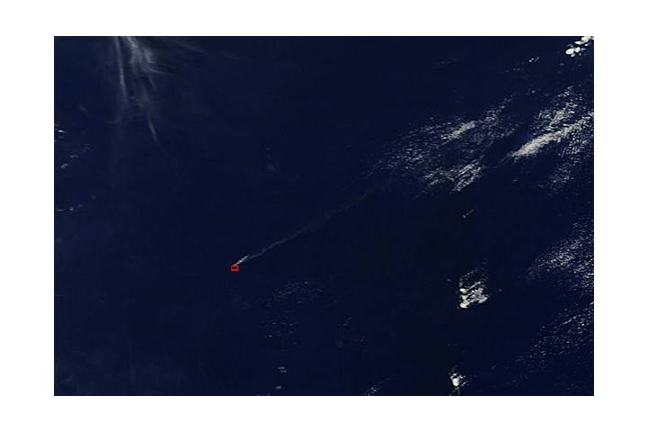 Plume from Nishinoshima, Volcano Islands (morning overpass) - selected image