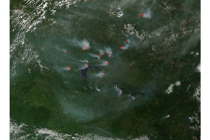 Fires in eastern Siberia - selected image