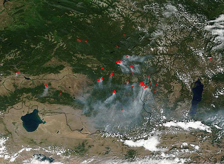 Fires in central Asia - related image preview