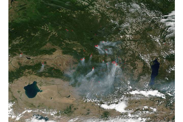 Fires in central Asia - selected image
