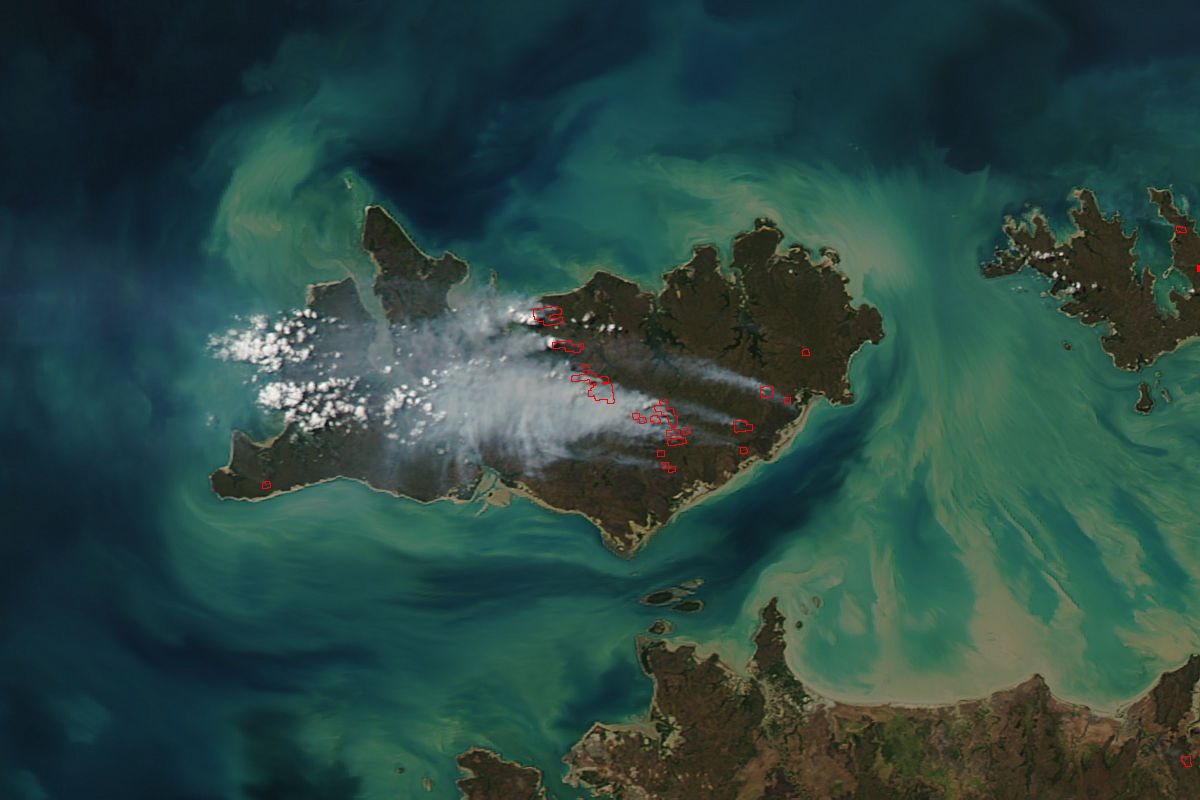Fires on Melville Island, Australia - related image preview