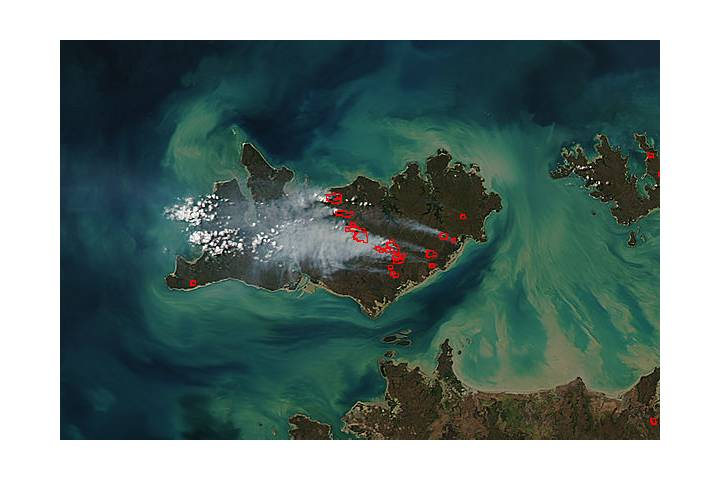 Fires on Melville Island, Australia - selected image