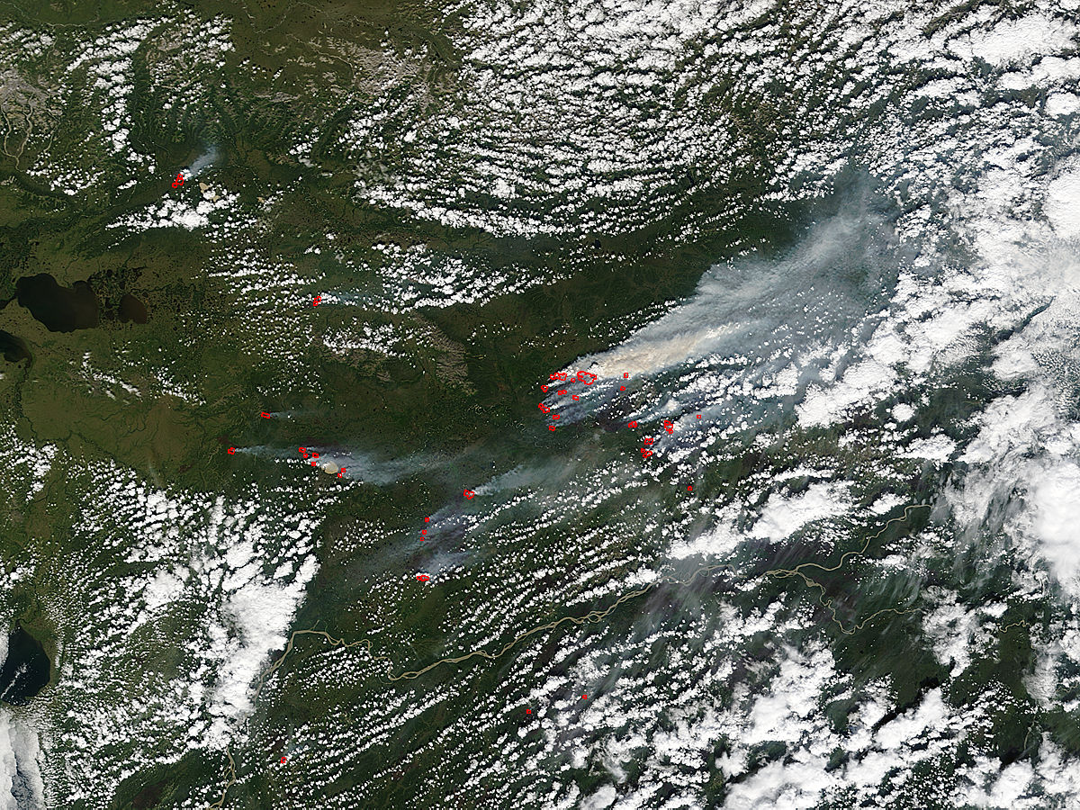 Fires and smoke in northern Alaska - related image preview