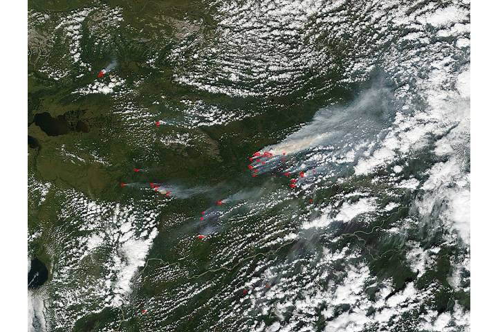 Fires and smoke in northern Alaska - selected image