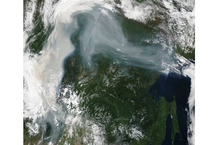 Smoke and fires in eastern Russia - selected image