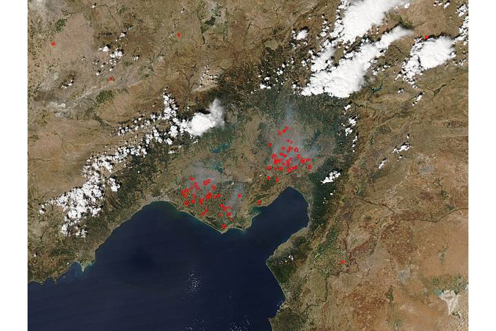 Fires in south central Turkey - selected image