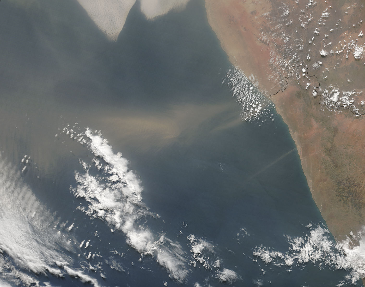 Dust storm off the coast of Namibia - related image preview