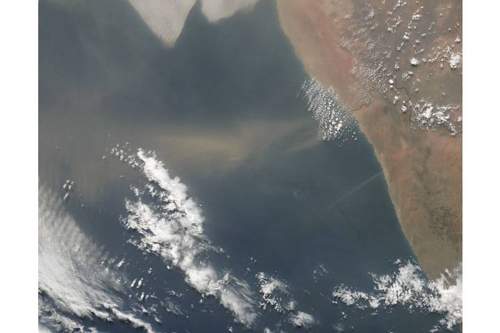 Dust storm off the coast of Namibia - selected image