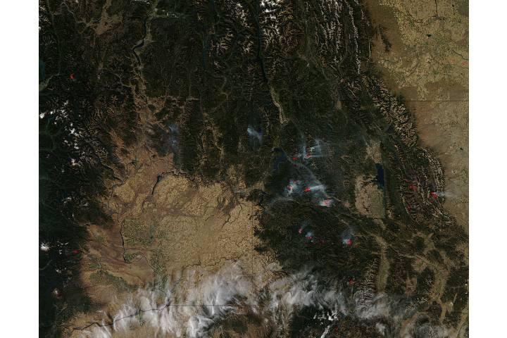 Fires in Idaho, Montana, and Washington - selected image