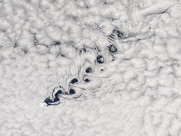 Cloud vortices off Heard Island, south Indian Ocean - related image preview