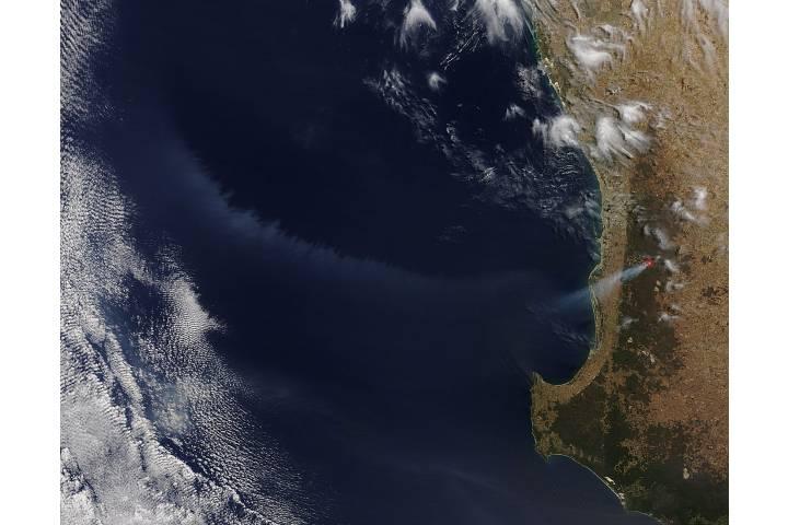 Smoke off Western Australia - selected image