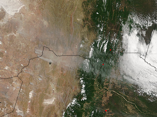 Dust storms in Bolivia and Argentia - related image preview