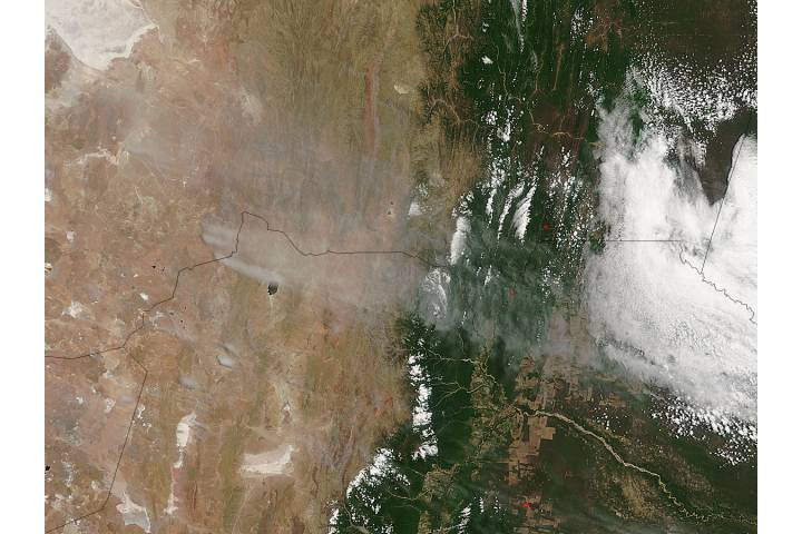 Dust storms in Bolivia and Argentia - selected image