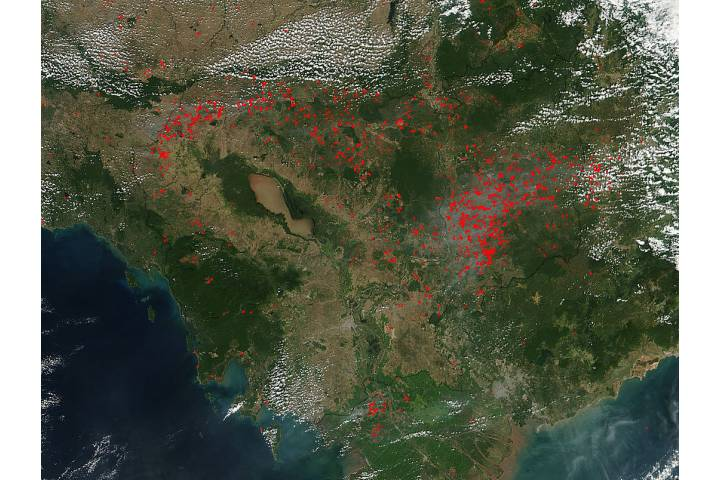Fires in Cambodia - selected image