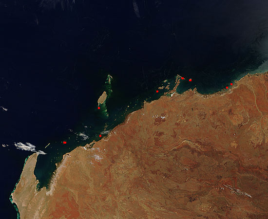 Fires along the northwest coast of Australia - related image preview