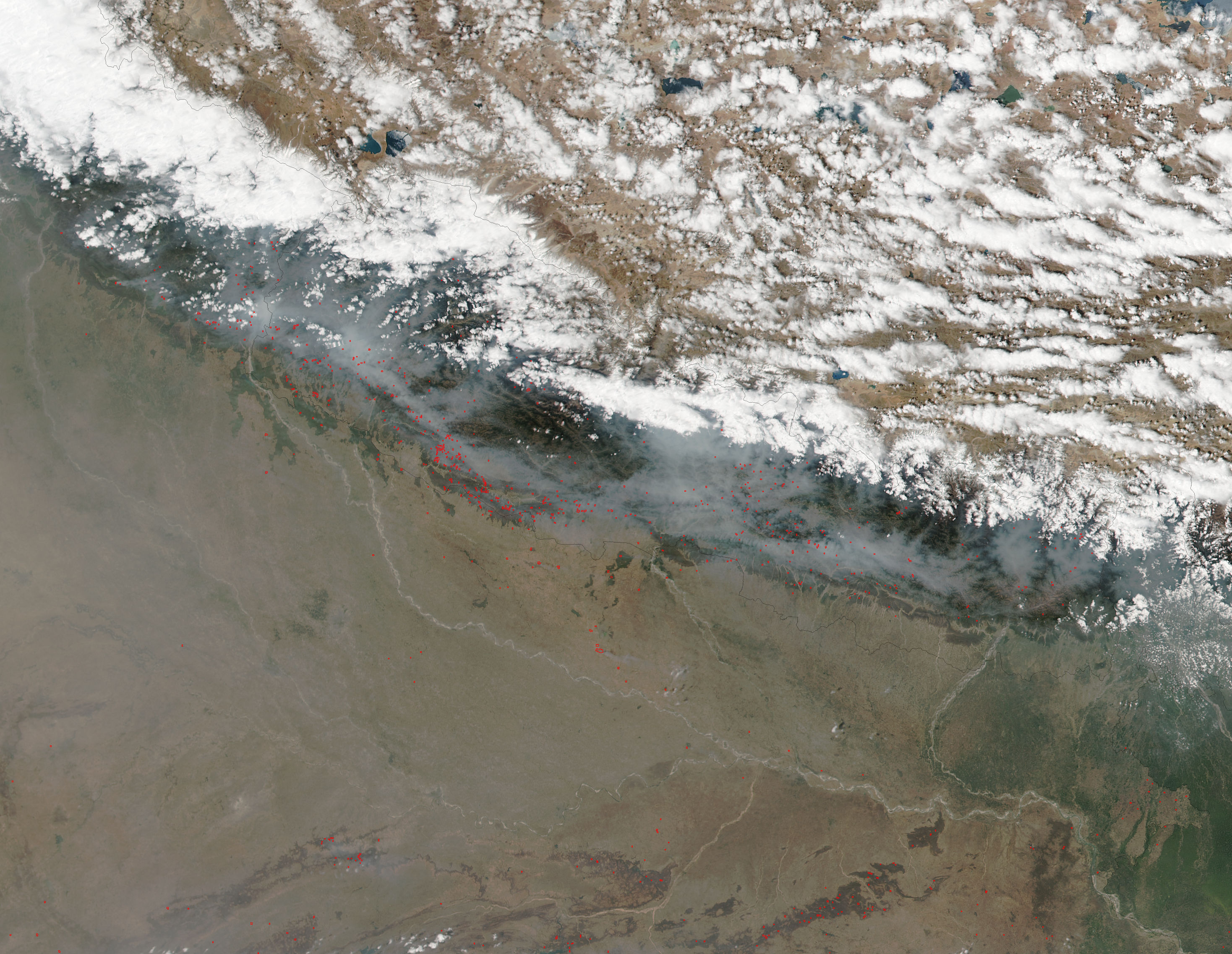 Fires and smoke in Nepal - related image preview