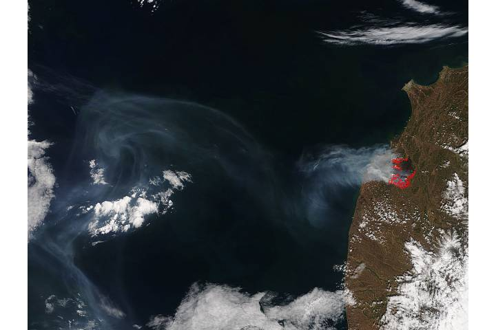 Wildfire in southwest Kamchatka - selected image