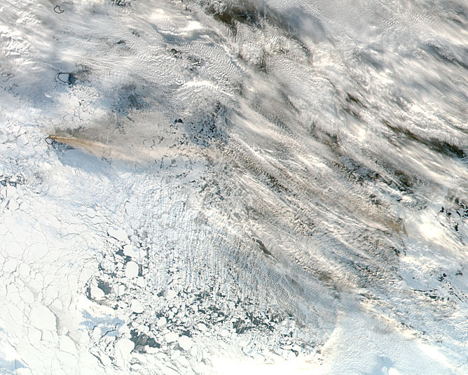 Eruption of Bristol Island volcano, South Sandwich Islands - related image preview