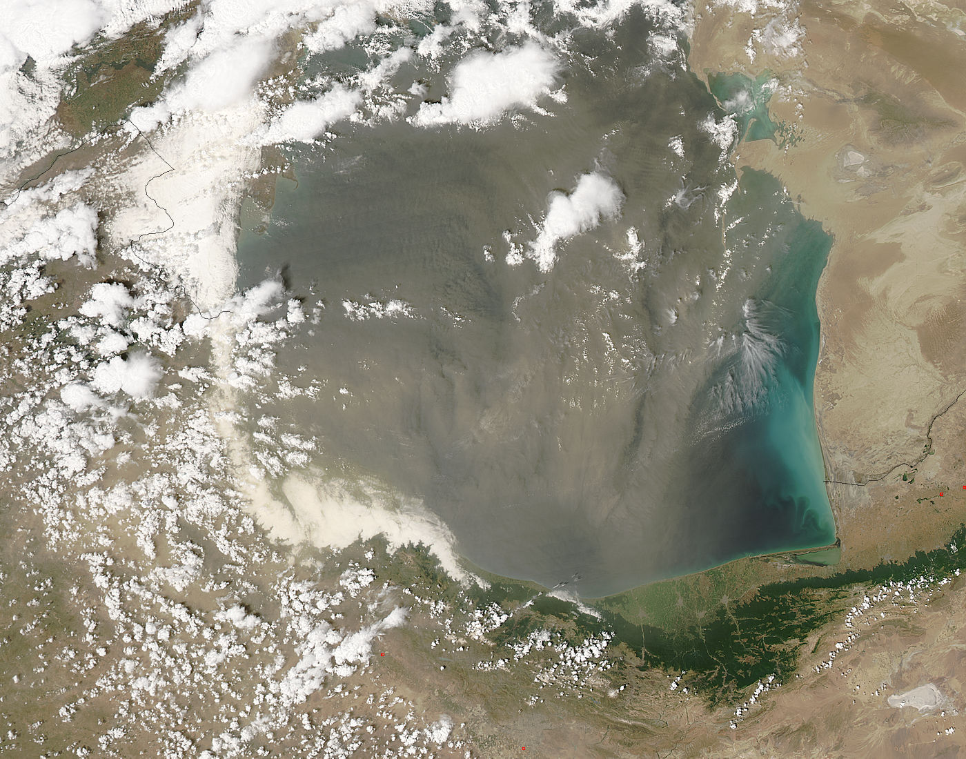 Dust storm over the southern Caspian Sea - related image preview