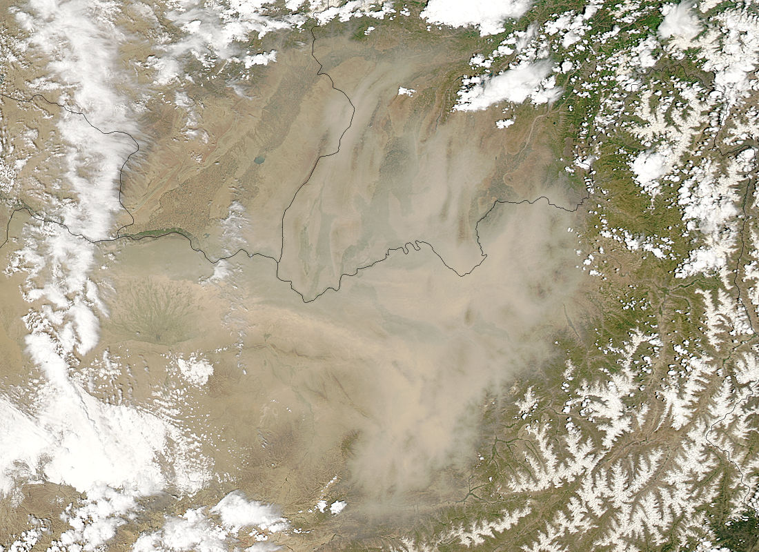 Dust storm in northern Afghanistan - related image preview