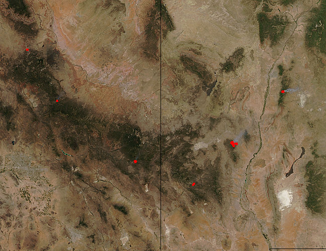Fires in New Mexico and Arizona - related image preview