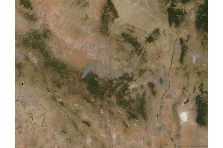 Fires in New Mexico and Arizona - selected image