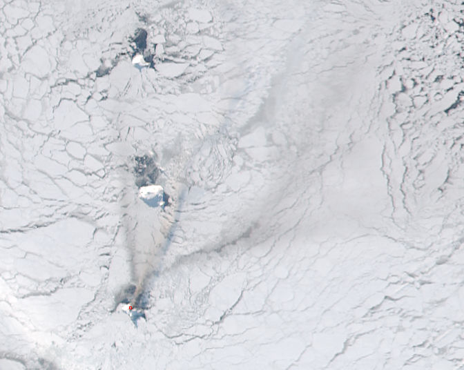 Activity at Bristol Island volcano, South Sandwich Islands - related image preview