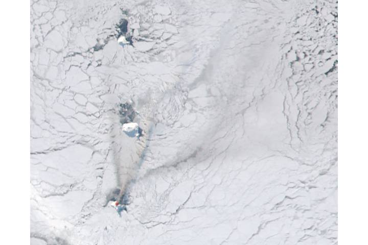Activity at Bristol Island volcano, South Sandwich Islands - selected image