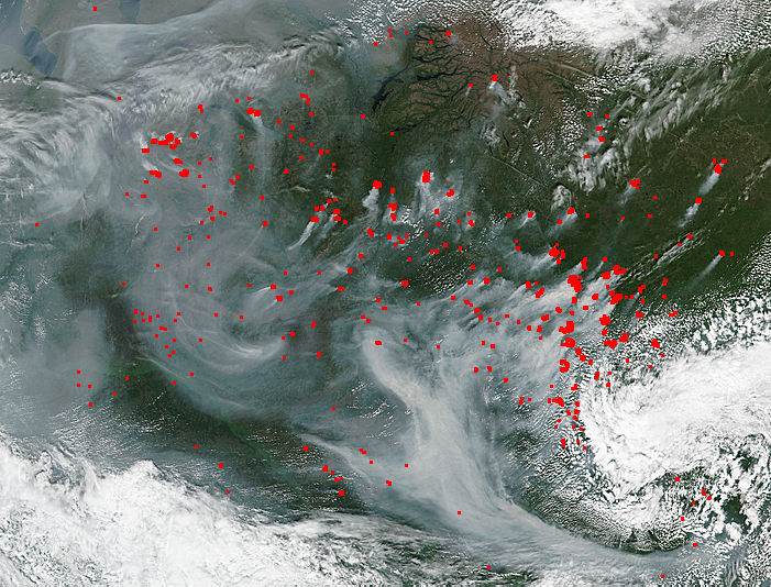 Fires and smoke in central Russia - related image preview