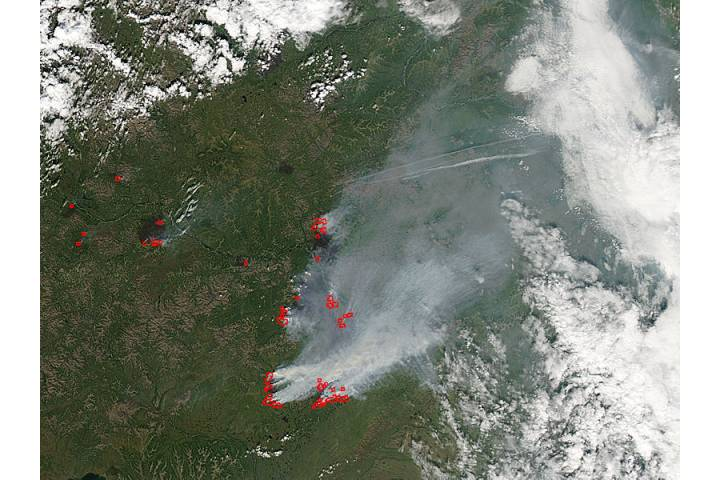 Fires and smoke in eastern Russia - selected child image