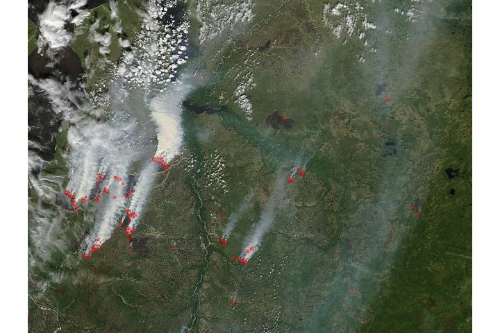 Fires in central Russia - selected image