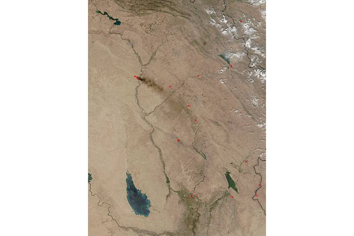 Oil fires in Iraq - selected image