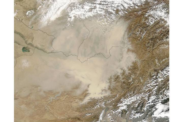 Dust storm in Afghanistan - selected image