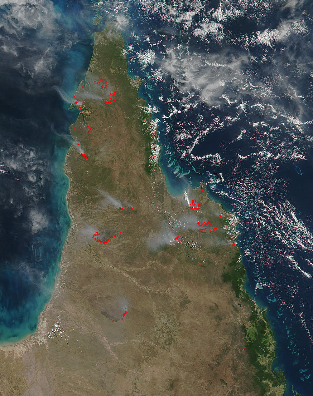 Fires across Cape York Peninsula, Australia - related image preview