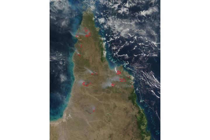 Fires across Cape York Peninsula, Australia - selected image