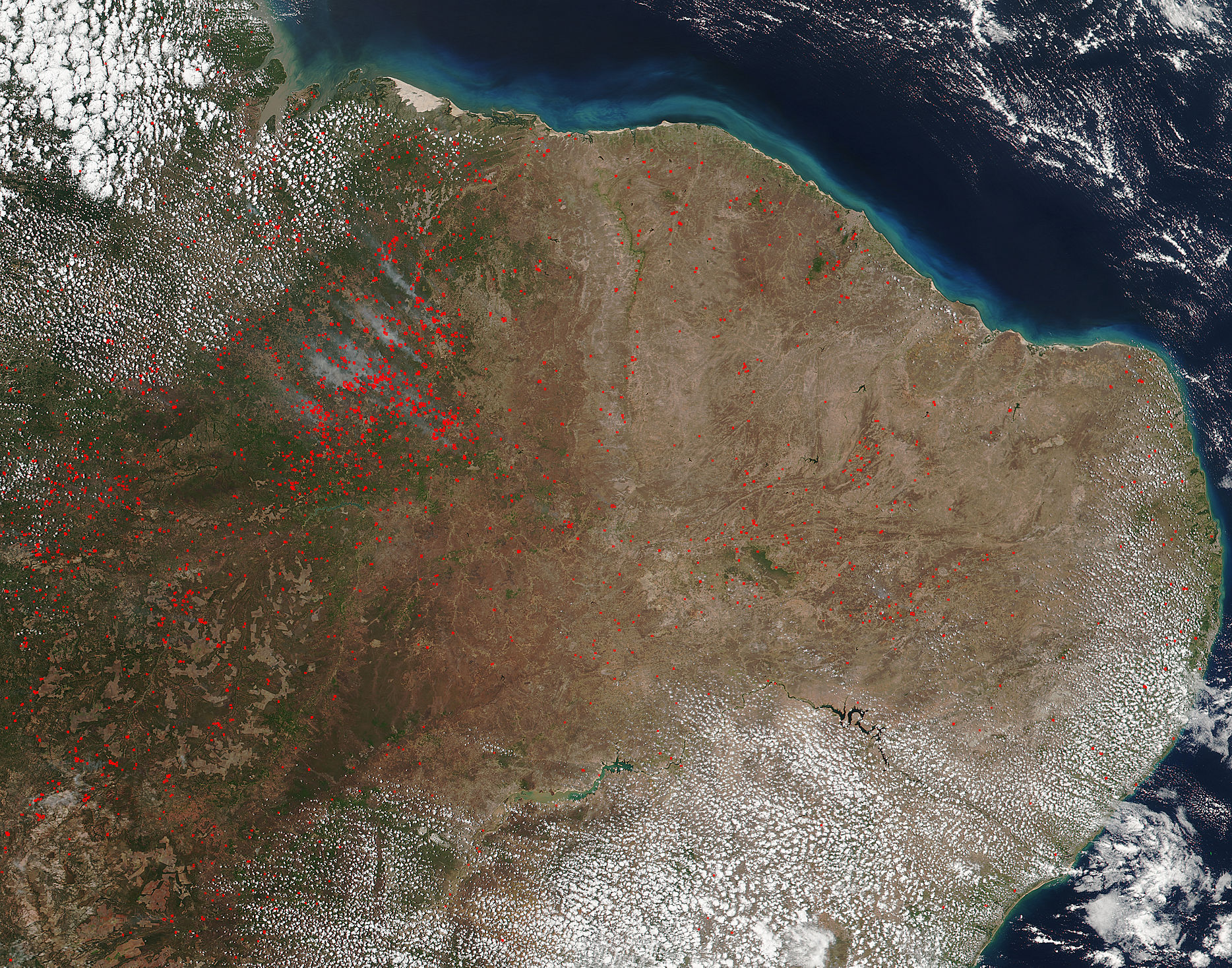 Fires in eastern Brazil - related image preview